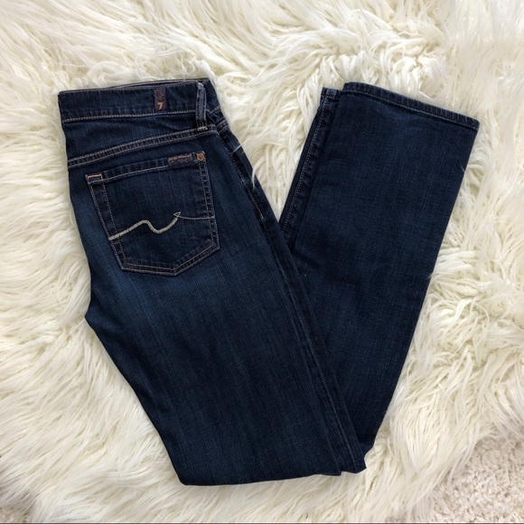 7 For All Mankind Denim - 7 FOR ALL MANKIND dark straight leg jeans 27